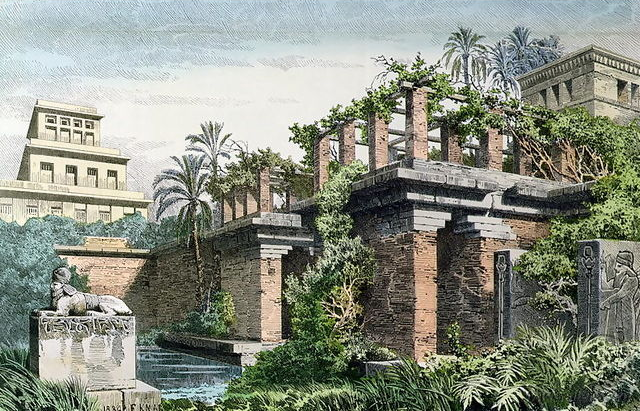Ancient Mesopotamia - Hanging Gardens of Babylon by Ferdinand Knab 1886