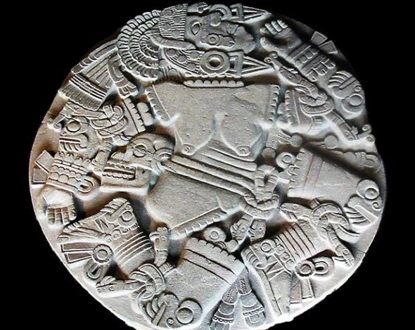 Aztec Moon Goddess Coyolxauhqui Disc