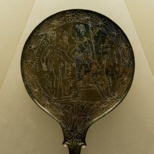 Etruscan Moon Goddess Mirror