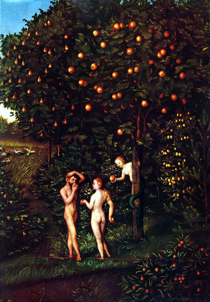 Paradise Tree of Knowledge (Lucas Cranach, 1530)